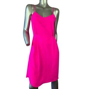 Neon Pink Strpless Cocktail Dress Small
